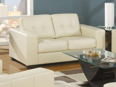 Vida Living Gemona 2 Seater Leather Sofa - Ivory