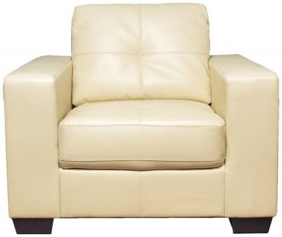 Vida Living Gemona Leather Armchair - Ivory