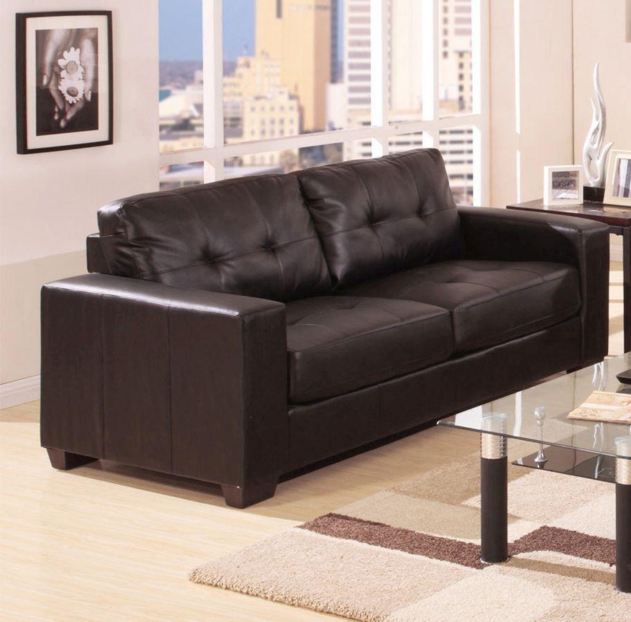 Vida Living Gemona 3 Seater Leather Sofa - Brown