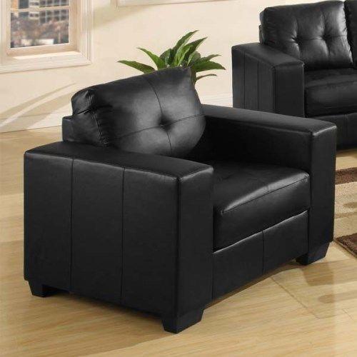 Vida Living Gemona Leather Armchair - Black
