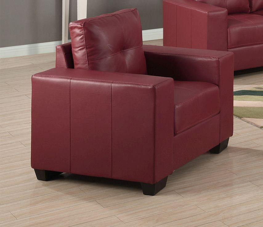 Vida Living Gemona Leather Armchair - Red
