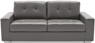 Vida Living Gemona Grey Faux Leather 3 Seater Sofa