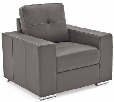 Vida Living Gemona Grey Faux Leather Armchair