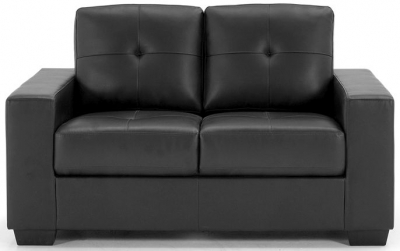 Vida Living Gemona Black Faux Leather 2 Seater Sofa