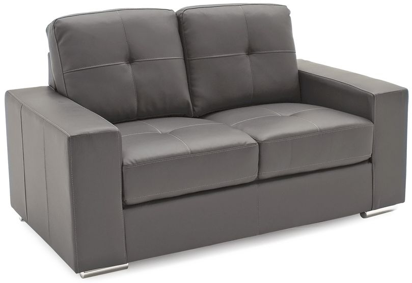 Vida Living Gemona Grey Faux Leather 2 Seater Sofa