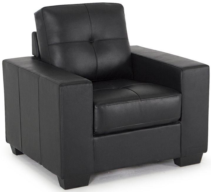 Vida Living Gemona Black Faux Leather Armchair