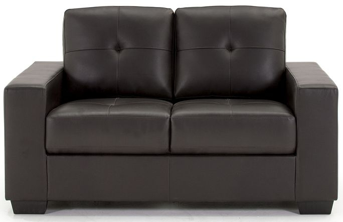 Vida Living Gemona Brown 2 Seater Faux Leather Sofa