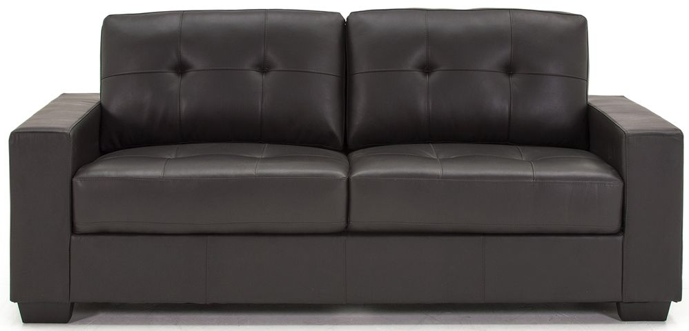 Vida Living Gemona Brown Faux Leather 3 Seater Sofa