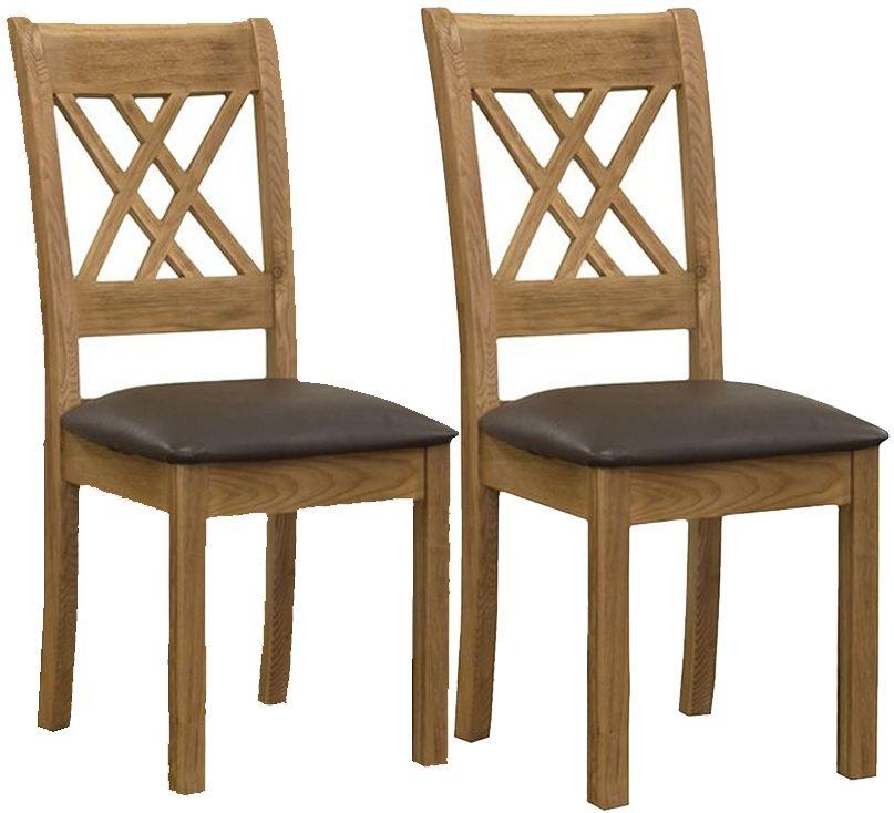 Vida Living Grant Oak Dining Chair (Pair)