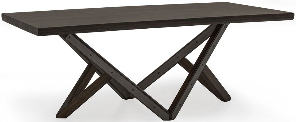 Vida Living Gratiano Walnut Rectangular Fixed Top Dining Table - 197cm