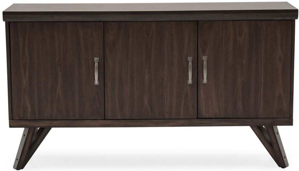 Vida Living Gratiano Walnut 3 Door Wide Sideboard