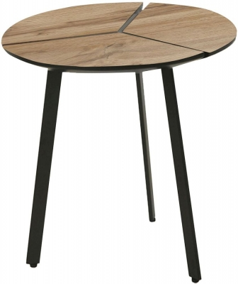 Vida Living Gyda Oak Round End Table