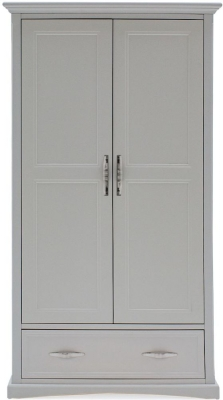 Vida Living Harlow 2 Door Wardrobe - Grey