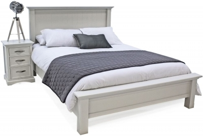 Vida Living Harlow Bed - Grey Painted