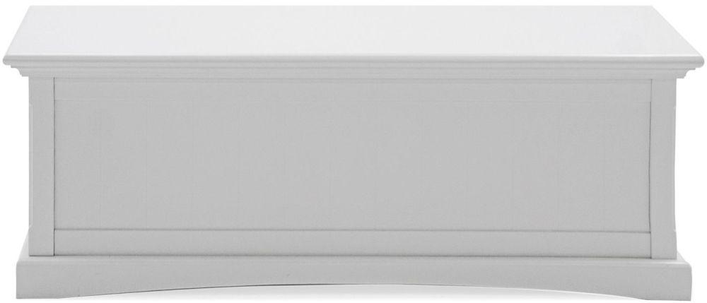 Vida Living Harlow Blanket Box - White