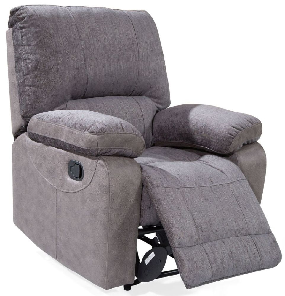 Incroyable Vida Living Hastings Grey Fabric Recliner Chair