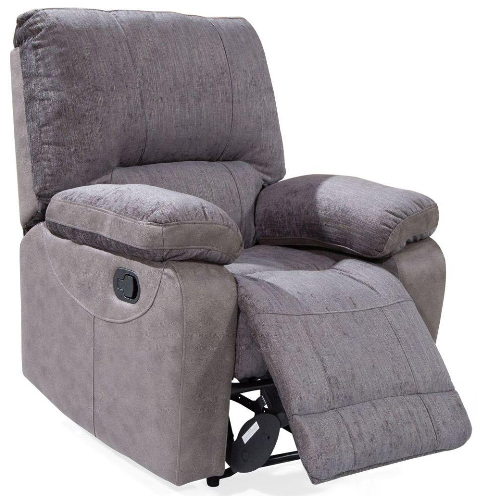 Etonnant Vida Living Hastings Grey Fabric Recliner Chair