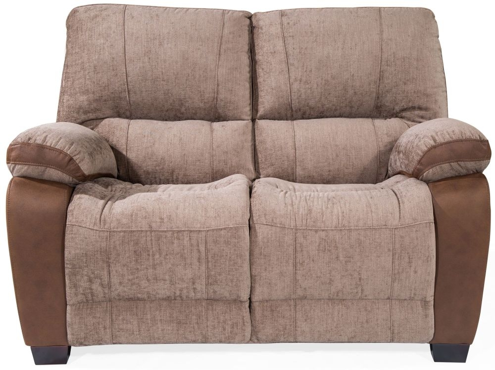 Vida Living Hastings Brown Fabric 2 Seater Fixed Sofa