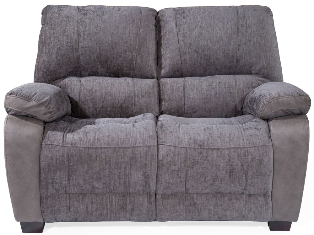 Vida Living Hastings Grey Fabric 2 Seater Fixed Sofa