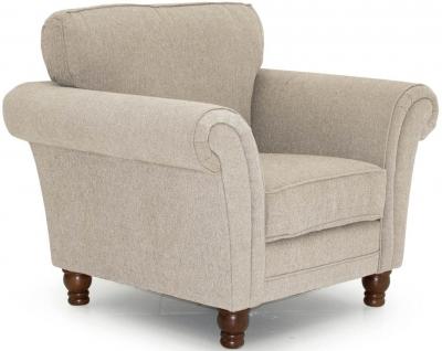 Vida Living Helmsdale Pewter Fabric Armchair