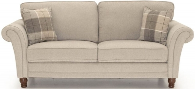 Vida Living Helmsdale Pewter Fabric 3 Seater Sofa