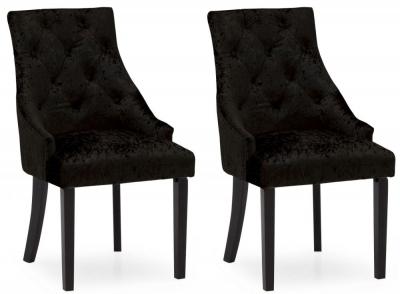 Vida Living Hobbs Black Velvet Dining Chair (Pair)