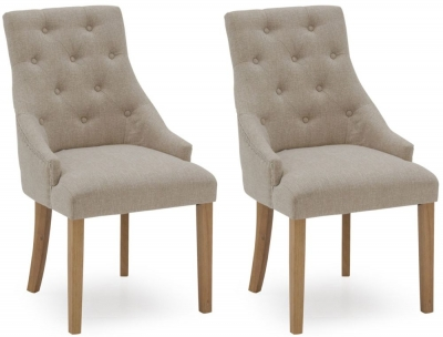 Vida Living Hobbs Beige Fabric Dining Chair (Pair)
