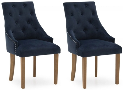 Vida Living Hobbs Midnight Velvet Dining Chair (Pair)