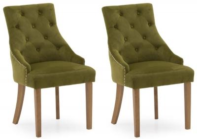 Vida Living Hobbs Moss Velvet Dining Chair (Pair)