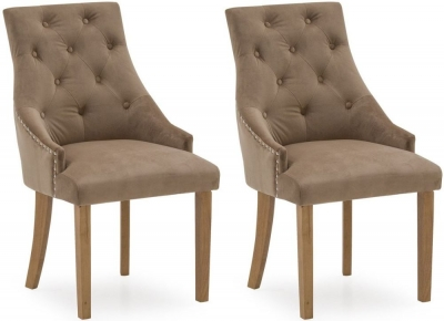 Vida Living Hobbs Cedar Velvet Dining Chair (Pair)