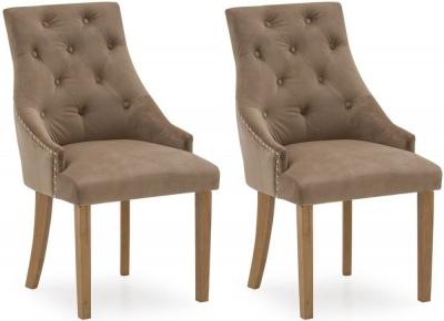 Vida Living Hobbs Cedar Velvet Dining Chair (Pair)