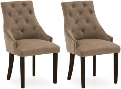 Vida Living Hobbs Cedar Velvet Wenge Leg Dining Chair (Pair)
