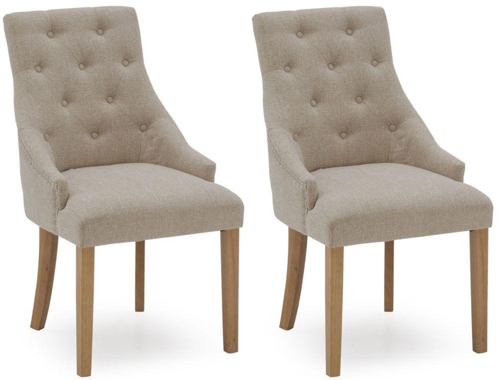 Vida Living Hobbs Beige Fabric Dining Chair (Pair)