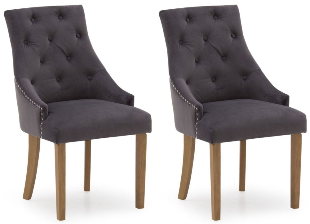 Vida Living Hobbs Misty Velvet Dining Chair (Pair)