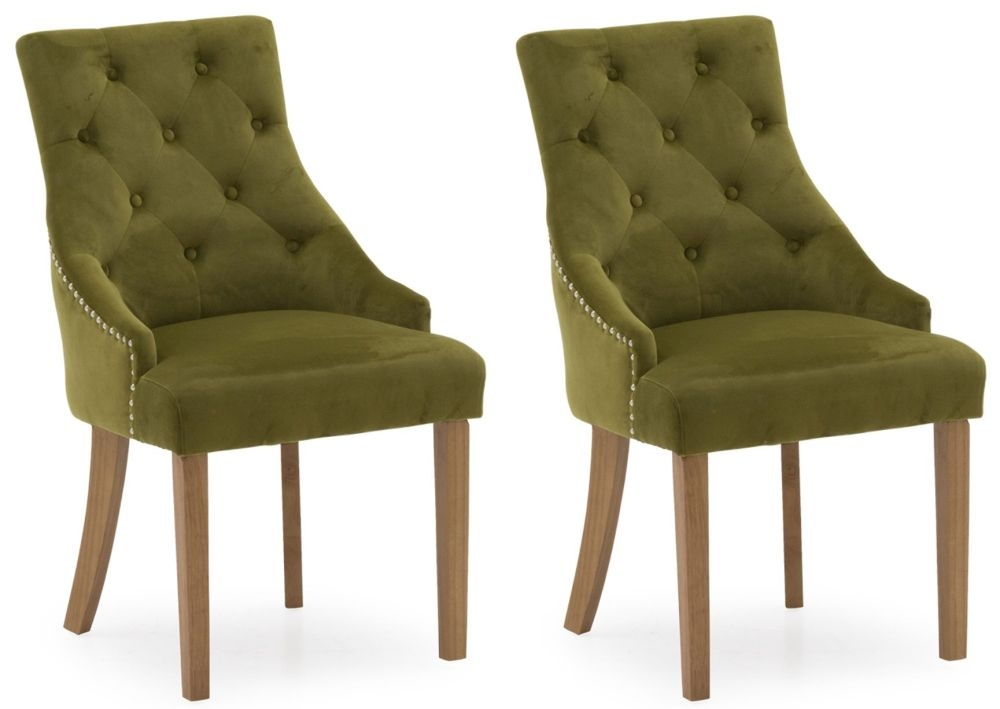 Vida Living Hobbs Moss Velvet Dining Chair (Pair)
