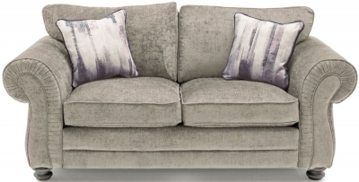 Vida Living Hollins Mink Fabric 2 Seater Fixed Sofa with Scatter Cushion