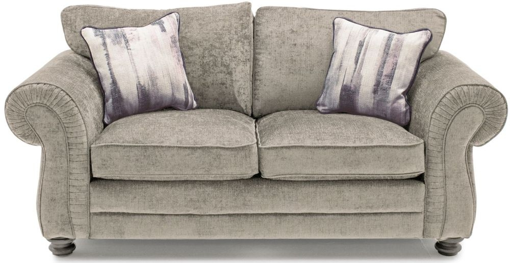 Vida Living Hollins Mink 1 Seater Fixed Sofa with 2 Scatter Cushions