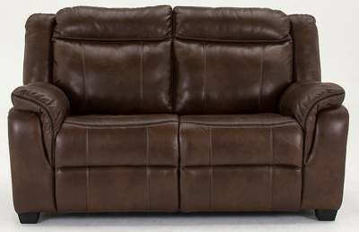 Vida Living Houston 2 Seater Pellaria Fixed Sofa - Nappa Brown