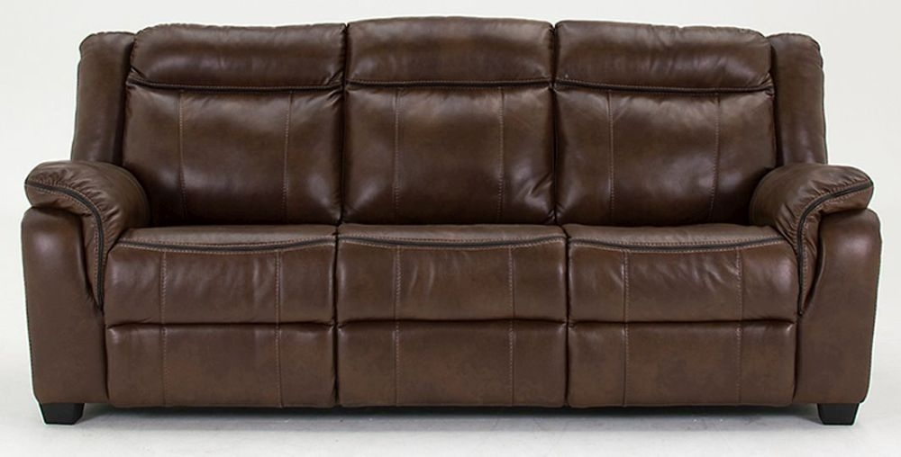 Vida Living Houston 3 Seater Pellaria Fixed Sofa - Nappa Brown