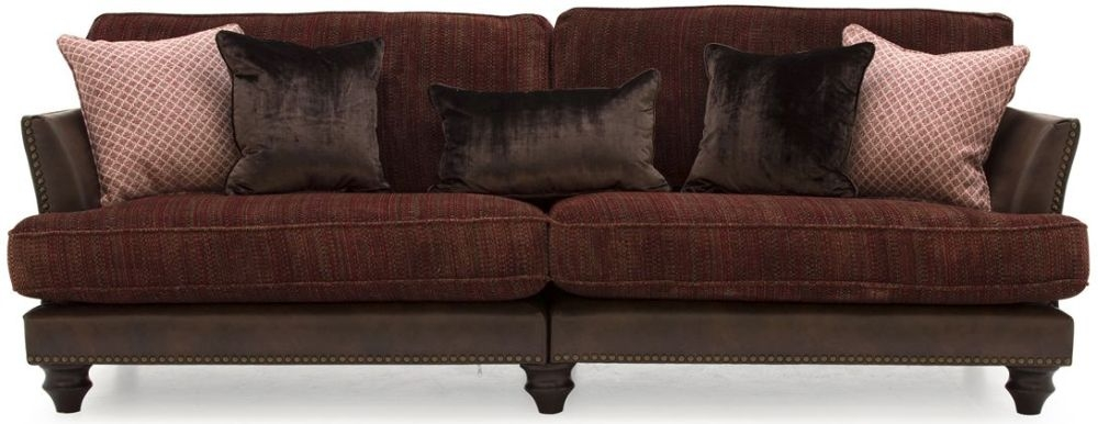 Vida Living Hyde Claret 4 Seater Sofa with 4 Scatter Cushions