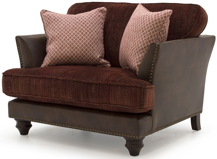 Vida Living Hyde Claret Snuggle Sofa with 1 Scatter Cushion
