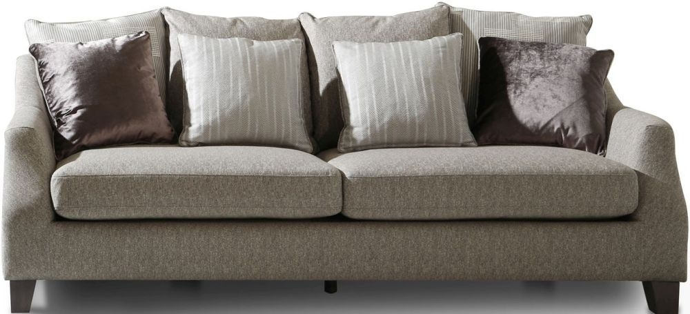 Vida Living Imogen Grey Fabric 3 Seater Sofa