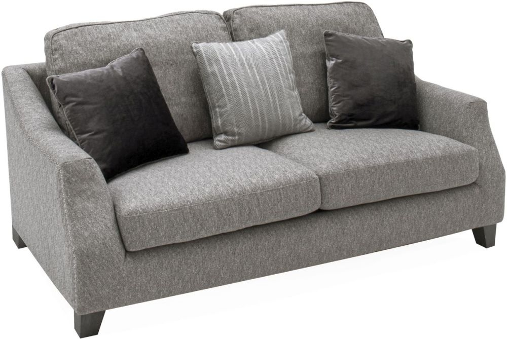 Vida Living Imogen Grey Fabric 3 Seater Standard Back Sofa
