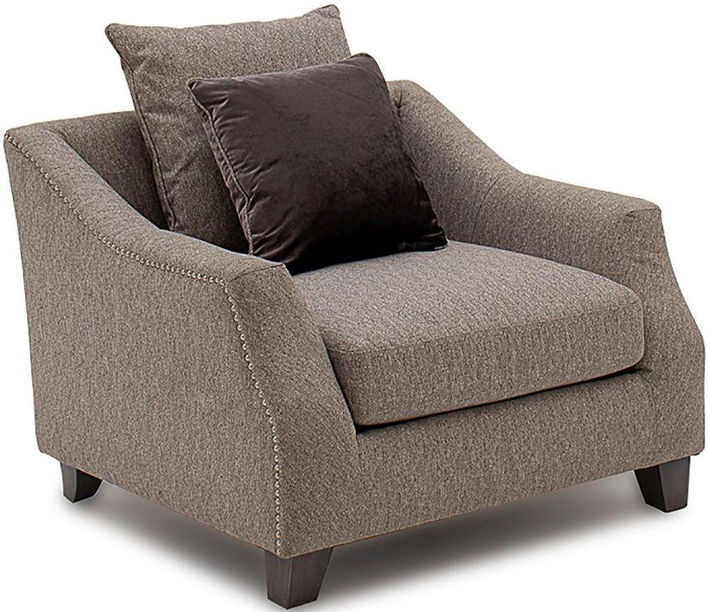 Vida Living Imogen Grey Fabric Armchair