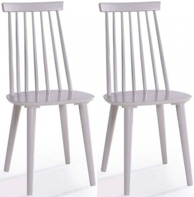 Vida Living Isla Grey Spindle Dining Chair (Pair)