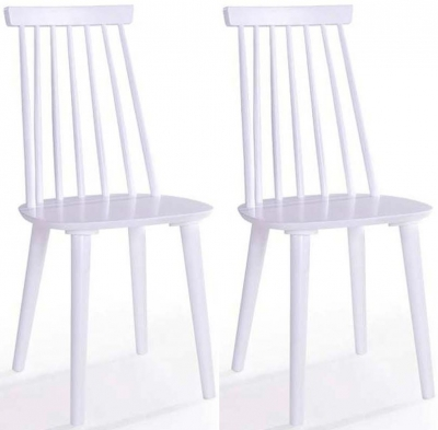 Vida Living Isla White Spindle Dining Chair (Pair)