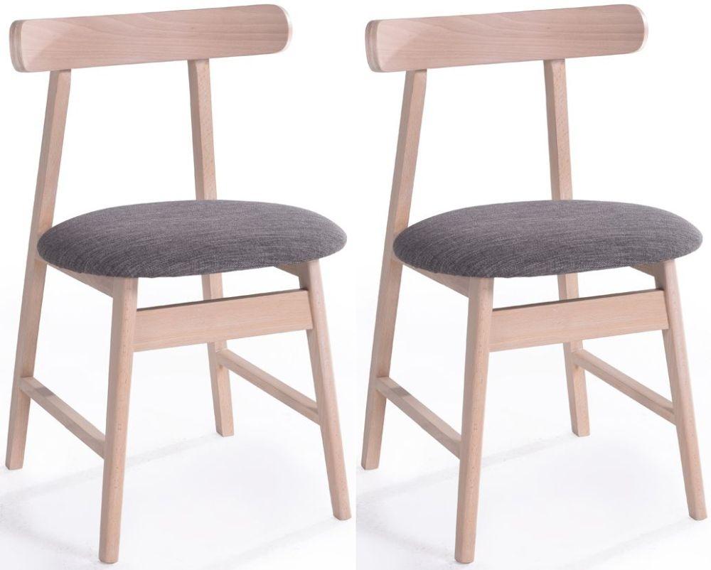 Vida Living Isla Grey Fabric Curve Dining Chair (Pair)