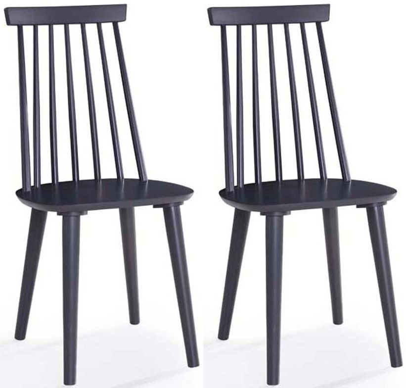 Vida Living Isla Spindle Black Dining Chair (Pair)