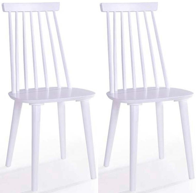 Vida Living Isla Spindle White Dining Chair (Pair)