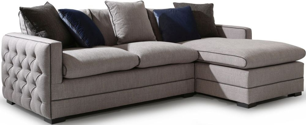 Vida Living Ivy Grey Fabric Left Hand Side Corner Group Sofa